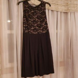 NWT Enfocus Studio black lace dress